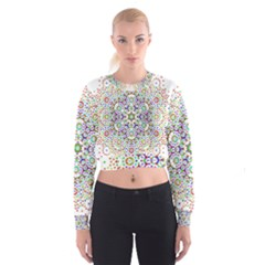 The Flower Of Life Women s Cropped Sweatshirt