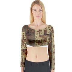 The Jerusalem Cube Long Sleeve Crop Top