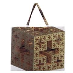The Jerusalem Cube Zipper Large Tote Bag