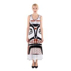 Traditional Northwest Coast Native Art Sleeveless Maxi Dress