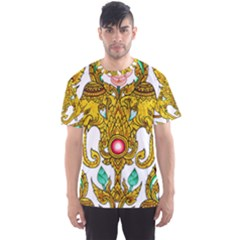 Traditional Thai Style Painting Men s Sport Mesh Tee