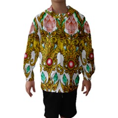 Traditional Thai Style Painting Hooded Wind Breaker (Kids)