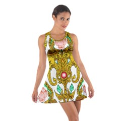 Traditional Thai Style Painting Cotton Racerback Dress