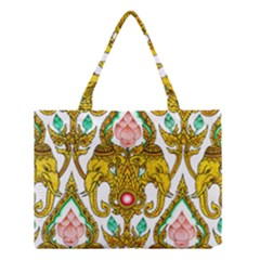 Traditional Thai Style Painting Medium Tote Bag