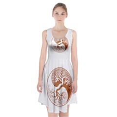 Tree Of Life Yin Yang Racerback Midi Dress