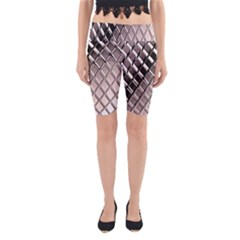 3d Abstract Metal Silver Pattern Yoga Cropped Leggings