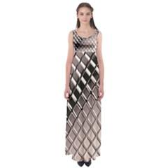 3d Abstract Metal Silver Pattern Empire Waist Maxi Dress