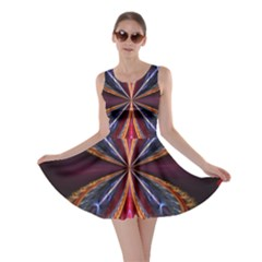 3d Abstract Ring Skater Dress