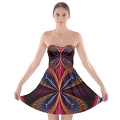 3d Abstract Ring Strapless Bra Top Dress