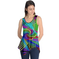3d Black Swirl Sleeveless Tunic