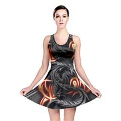 3d Dragon Reversible Skater Dress