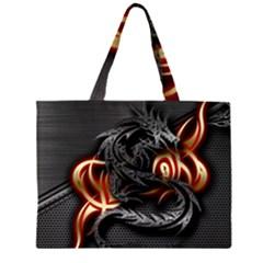 3d Dragon Large Tote Bag