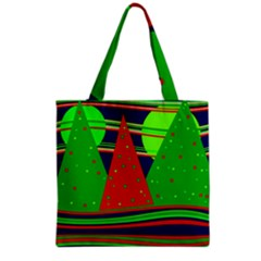 Magical Xmas night Grocery Tote Bag