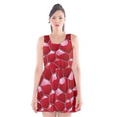 3d Honeycomb Pattern Scoop Neck Skater Dress