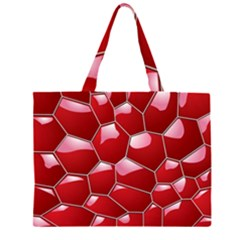 3d Honeycomb Pattern Large Tote Bag