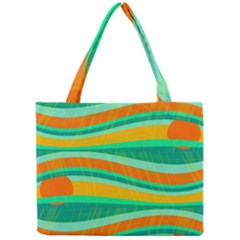 Green and orange decorative design Mini Tote Bag