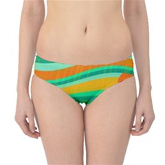 Green and orange decorative design Hipster Bikini Bottoms