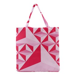 3d Pattern Experiments Grocery Tote Bag