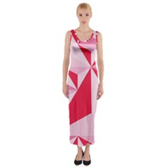 3d Pattern Experiments Fitted Maxi Dress