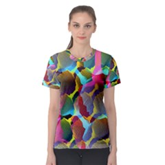 3d Pattern Mix Women s Sport Mesh Tee