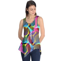 3d Pattern Mix Sleeveless Tunic