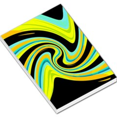 Blue and yellow Large Memo Pads