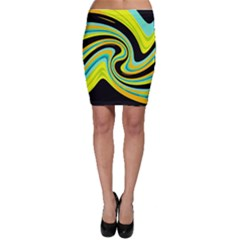 Blue and yellow Bodycon Skirt