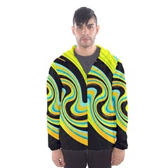 Blue and yellow Hooded Wind Breaker (Men)