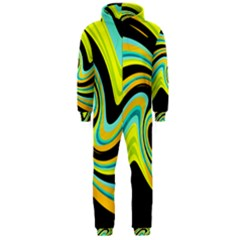 Blue and yellow Hooded Jumpsuit (Men)