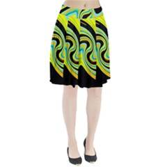 Blue and yellow Pleated Skirt