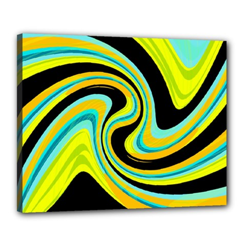 Blue and yellow Canvas 20  x 16