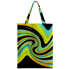 Blue and yellow Zipper Classic Tote Bag
