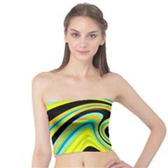 Blue and yellow Tube Top