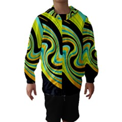 Blue and yellow Hooded Wind Breaker (Kids)