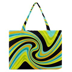 Blue and yellow Medium Zipper Tote Bag