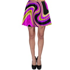 Pink and yellow Skater Skirt