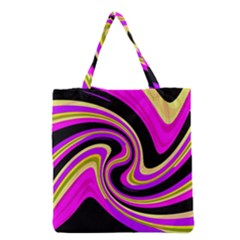 Pink and yellow Grocery Tote Bag