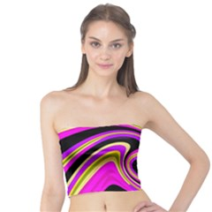 Pink and yellow Tube Top
