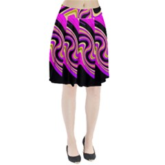 Pink and yellow Pleated Skirt