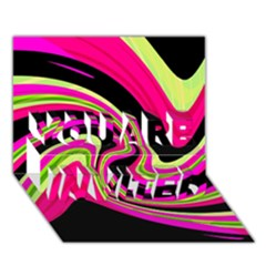 Magenta and yellow YOU ARE INVITED 3D Greeting Card (7x5)