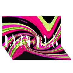 Magenta and yellow BEST BRO 3D Greeting Card (8x4)