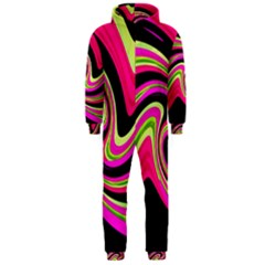 Magenta and yellow Hooded Jumpsuit (Men)