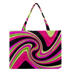 Magenta and yellow Medium Tote Bag
