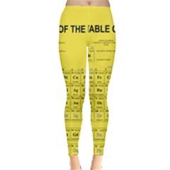 Periodic Table In Yellow Leggings