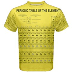Periodic Table In Yellow Men s Cotton Tee