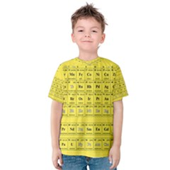 Periodic Table in Yellow Kids  Cotton Tee