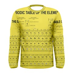 Periodic Table In Yellow Men s Long Sleeve Tee