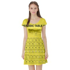 Periodic Table in Yellow Short Sleeve Skater Dress