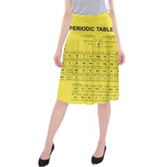 Periodic Table In Yellow Midi Beach Skirt