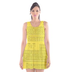Periodic Table in Yellow Scoop Neck Skater Dress